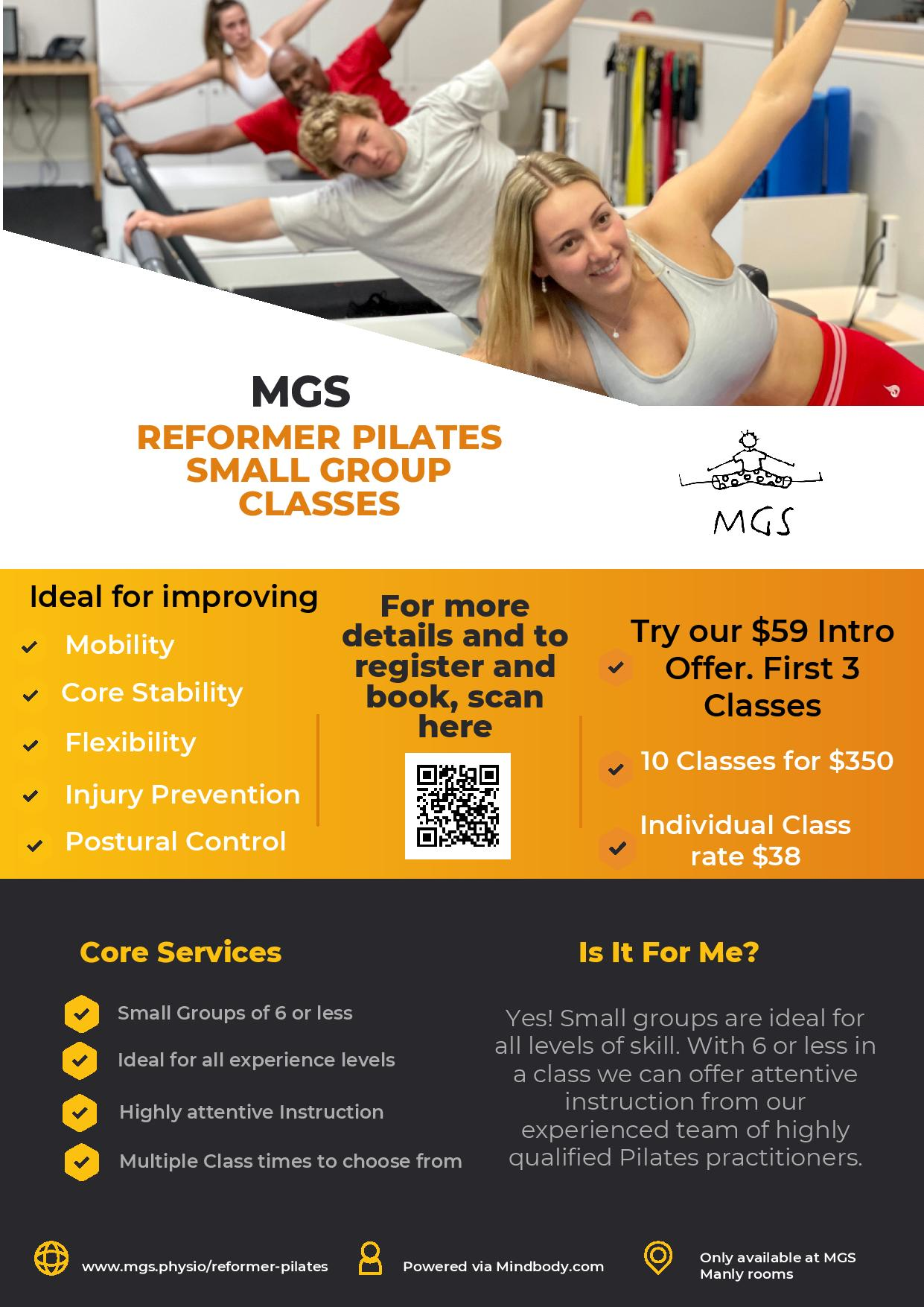 Manly Pilates Reformer Class